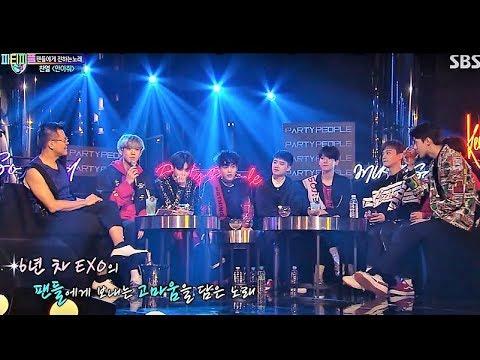 170930 EXO(엑소)- Boomerang + Sunday Morning + Creep + 안아줘 + 사랑에 빠지고싶다 + 서울의 달 + Power [박진영's 파티피플]