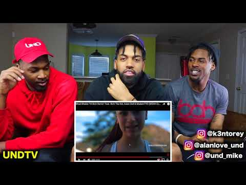 BHAD BHABIE FT. RICH THE KID, ASIAN DOLL, MADEINTYO - 'HI BICH' (REMIX)  [REACTION]