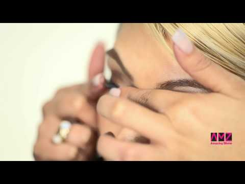 Best way to apply false eyelashes in less than 2 minutes tutorial