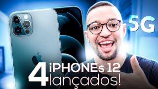 iPHONE 12, 12 MINI, 12 PRO, 12 PRO MAX com 5G e HOMEPOD MINI! VEM CONFERIR os LANÇAMENTOS da APPLE!