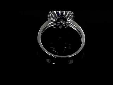 Browns Family Jewellers Diamond and Sapphire Engagement Ring