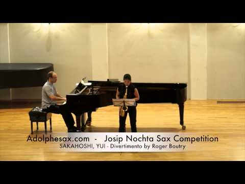 Josip Nochta Competition SAKAGOSHI, YUI Divertimento by Roger Boutry
