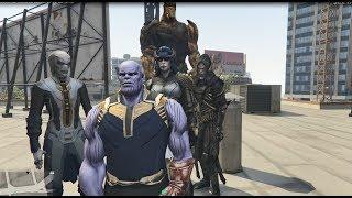GTA 5 - 4 đứa con của Thanos đối đấu biệt đội trái đất (tập 1) | GHTG