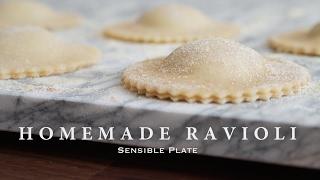 Homemade Vegan Ravioli with Pesto Cashew Cheese Filling | Sensible Plate