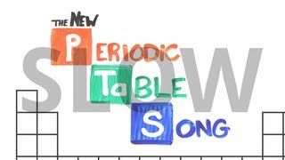 """SLOW """"The NEW Periodic Table Song (In Order)"""" (AsapSCIENCE 2013)"""
