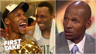 [FULL] Ray Allen on leaving the Celtics, missing Paul Pierce's ceremony & KG snub | First Take