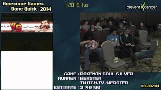 Pokemon Soul Silver Speedrun 2:55:55 - Live at AGDQ 2014