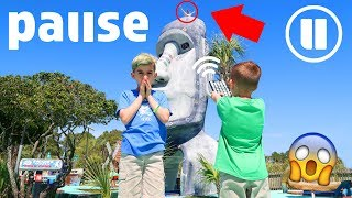 24 Hour PAUSE CHALLENGE! (We Took It Too Far)
