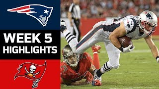 Patriots vs. Buccaneers | NFL Week 5 Game Highlights
