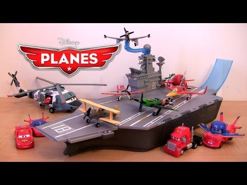 Disney Planes Yorkie Aircraft Carrier Playset Stores 6 Planes   Cars Mack Truck Lightning McQueen - Smashpipe Entertainment