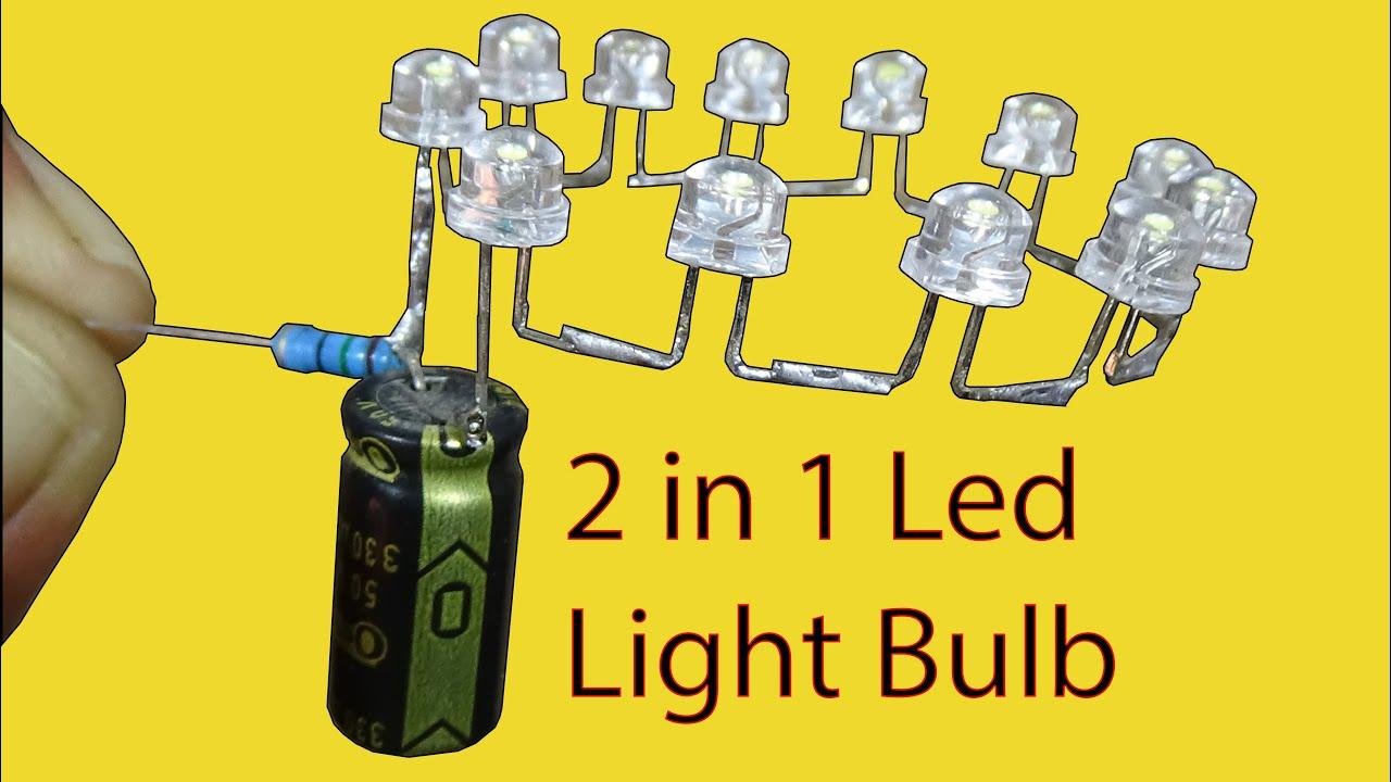 2 in 1 Led Light Bulb110v & 220v Led Bulb Make at home