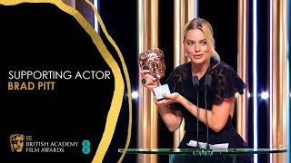 Margot Robbie's Hilarious Speech for Brad Pitt's Supporting Actor Win | EE BAFTA Film Awards 2020