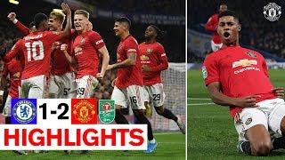 Rashford's stunning free kick sends United through! | Chelsea 1-2 Manchester United | Carabao Cup