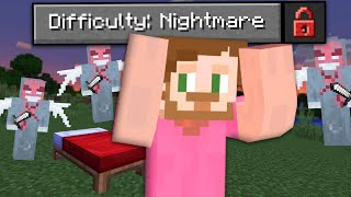 Beating Minecraft On Fundy's Nightmare Difficulty!