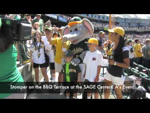 SAGE Center's A's Game 7th Inning Stretch with Stomper
