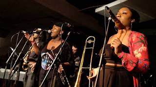 Afrobeat collective KOKOROKO, 'We Out Here' launch,Total Refreshment Centre, London 25.01.2018