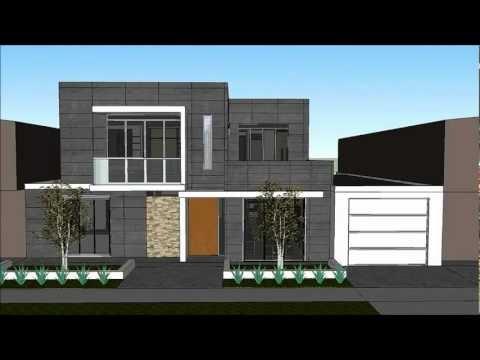 Dise os de casa moderna 3d incluye planos de casas for Casa moderna minimalista interior 6m x 12 50 m
