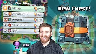 NEW 1st PLACE CLAN WAR CHEST UNLOCKED!! CRAZY WAR CARDS! | Clash Royale HUNT FOR WAR LEGENDARIES!