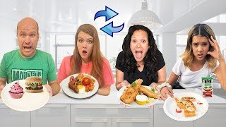 2 FAMILIES Swap Diets for 24 HOURS!  What if they eat GROSS food?!