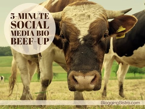 Take the 5-minute social media bio beef-up challenge!