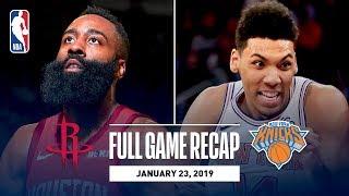 Full Game Recap: Rockets vs Knicks | The Beard Drops 61 In MSG