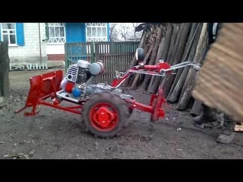 Настройка плуга для мотоблока  Беларус 09Н  - YouTube