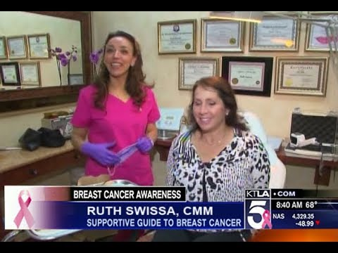 Temporary Areola Tattoo KTLA Breast Cancer Awareness - Ruth Swissa KTLA Channel 5