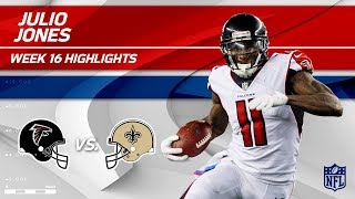 Julio Jones' Huge Game w/ 149 Yards vs. New Orleans! | Falcons vs. Saints | Wk 16 Player Highlights