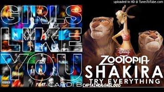 Shakira vs. Maroon 5 - Girls Try Everything
