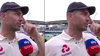 Jimmy Anderson crying on cook retirement
