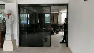 Linear motor automatic sliding door for office
