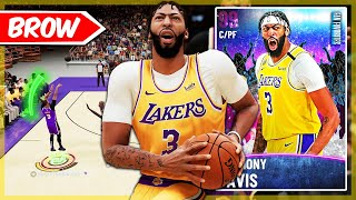 DARK MATTER ANTHONY DAVIS GAMEPLAY! THIS TWO WAY MONSTER CAN'T BE STOPPED! NBA 2k21 MyTEAM