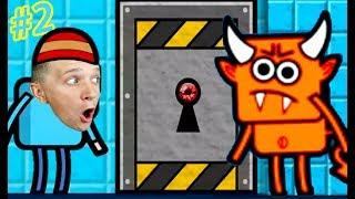 ПОБЕГ из КОМНАТЫ #2 в игре Escape that level Яркая мультяшная игра с героями и квестами канал FFGTV