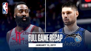 Full Game Recap: Rockets vs Magic | James Harden Records His 16th Consecutive 30+ Point Game