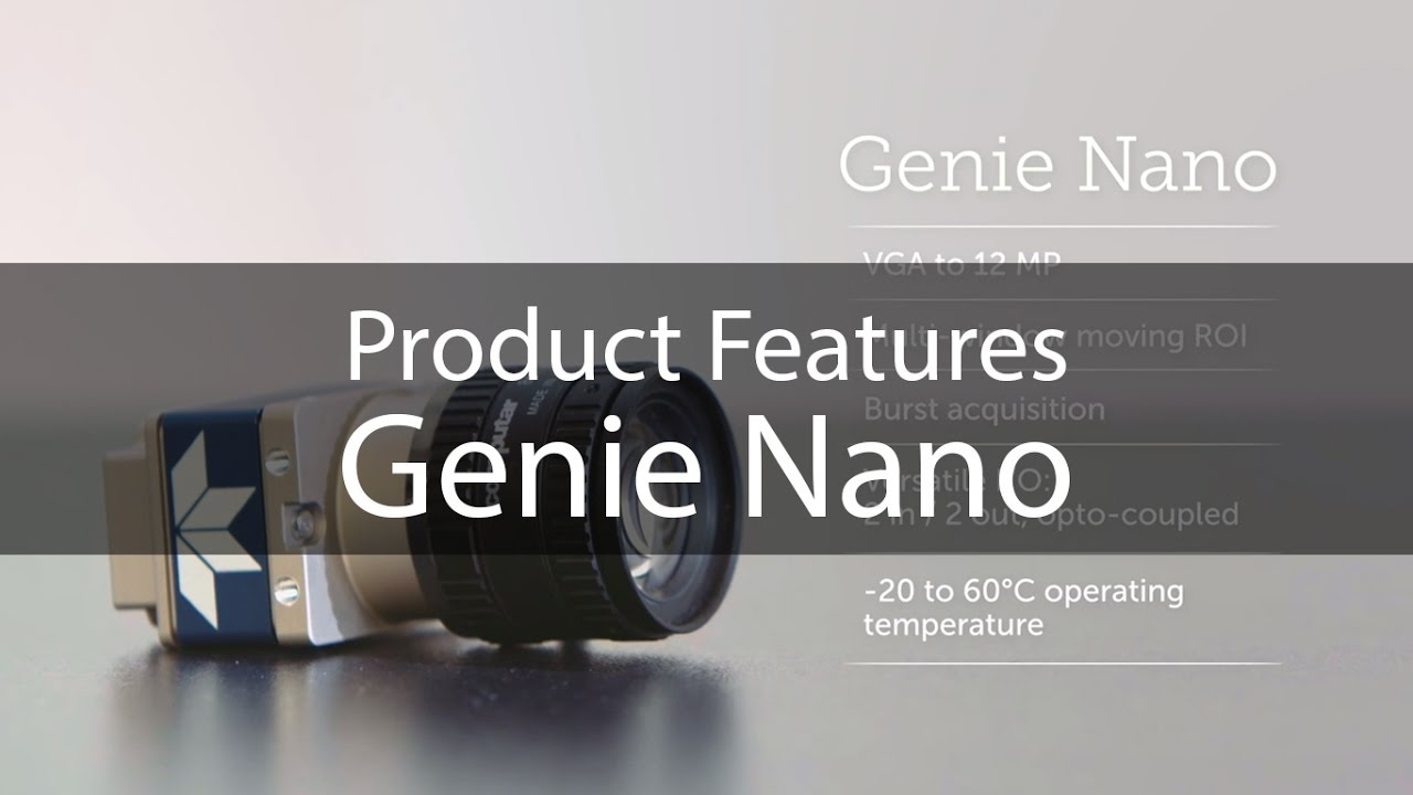 Teledyne DALSA Genie Nano: Product Introduction video industrial camera machine vision