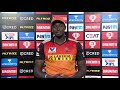 Simon Katich of Royal Challengers  and Jason Holder Sunrisers Hyderabad post match press conference