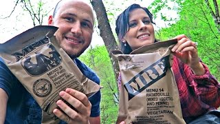 Testing US Military MRE with Katherine