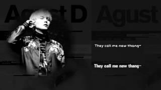 BTS Suga (AGUST D) - Intro : Dt sugA (FT DJ Friz) [Lyrics Han|Rom|Eng]