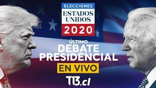Último debate presidencial entre Donald Trump y Joe Biden