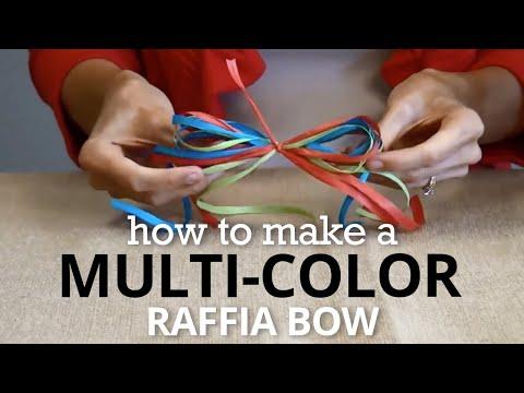 How to Tie a Raffia Bow