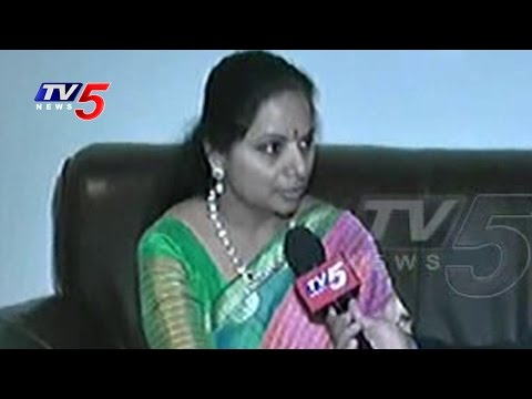 TRS MP Kavitha Face To Face