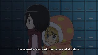 Mikasa translates scared Armin | Attack on Titan: Junior High | Shingeki! Kyojin Chuugakkou