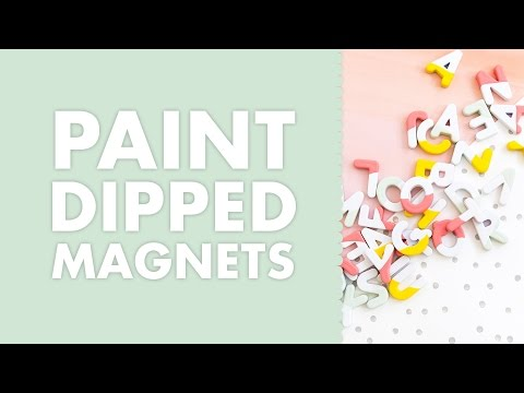 Paint Dipped Alphabet Letter Word Magnets