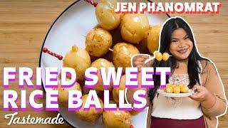Filipino Carioca (Fried Sweet Rice Balls) I Good Times With Jen
