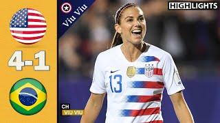 USA vs Brazil 4 - 1 All Goals & Highlights   2018 Tournament of Nations