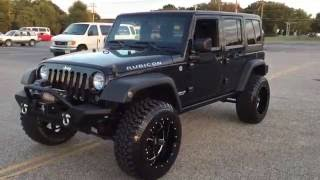 Lifted 2012 Jeep Wrangler Rubicon Unlimited 4x4!
