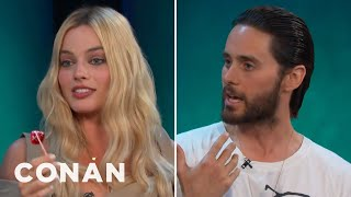 "Jared Leto & Margot Robbie Got Shaved Down For ""Suicide Squad""  - CONAN on TBS"