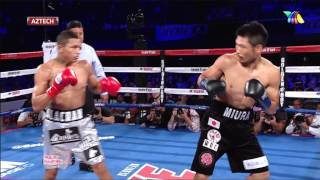 Miguel 'Alacrán' Berchelt vs Takashi Miura   Azteca Deportes