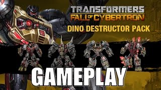 Transformers Fall Of Cybertron Dinobots Destructor Pack DLC Gameplay