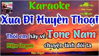 Karaoke 7979 Xua Đi Huyền Thoại Nhạc Sống Tone Nam || Hiệu Organ Guitar 7979